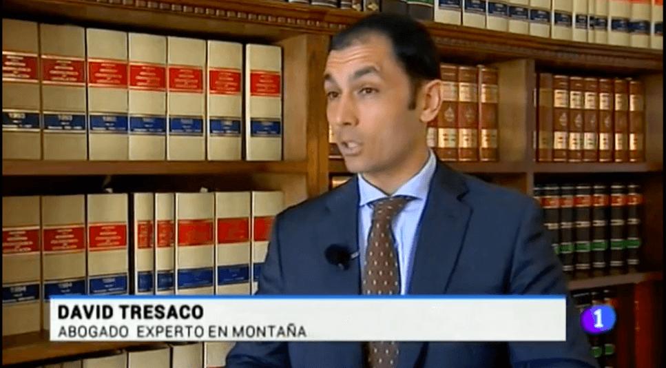 David Tresaco, abogado del despacho Alcázar Cuartero Abogados, habla en TVE de responsabilidades civiles en la montaña